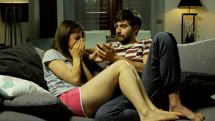 Woman crying at home angry with boyfriend at night 4K   Shutterstock HD Video #17924404