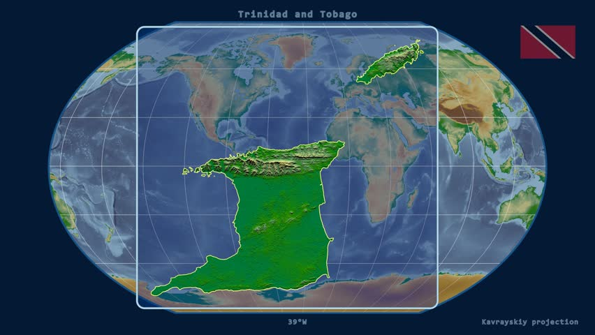 Trinidad And Tobago Map Stock Footage Video Shutterstock