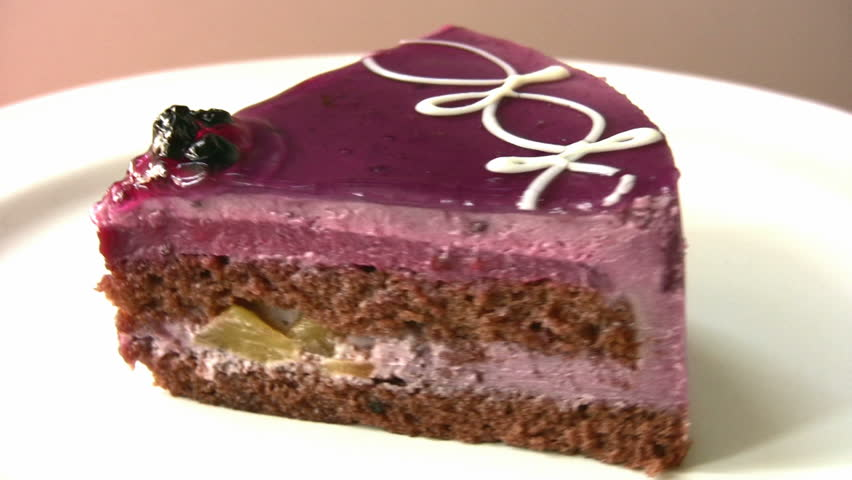 Yummy cake with blackberry