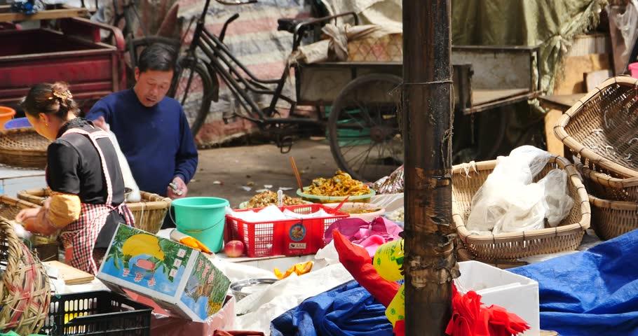 Imagini pentru old lady shanghai selling street food