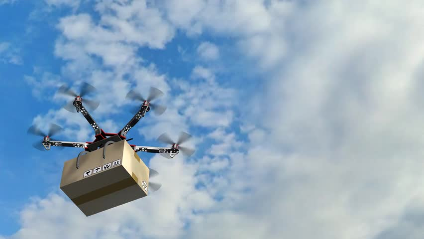 Drone Hexacopter delivers a package | Shutterstock HD Video #17977594