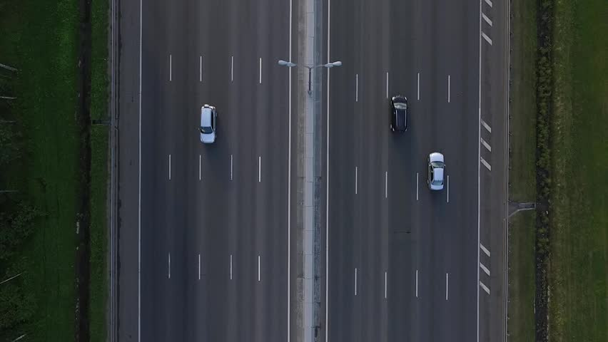 Close-Up Aerial View of Traffic on the Motorway Mkad in Moscow City, Russia | Shutterstock HD Video #18019624