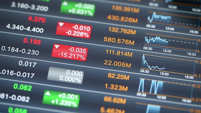 Digital tablet computer showing Stock Market index | Shutterstock HD Video #18072598