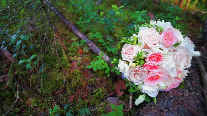 Wedding bouquet in forest | Shutterstock HD Video #18073456