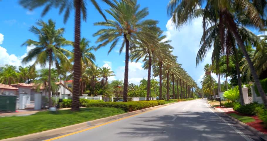 Driving Through West Palm Beach Florida
