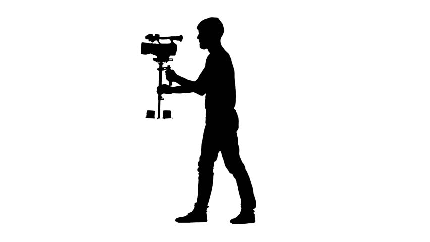 Videographer silhouette