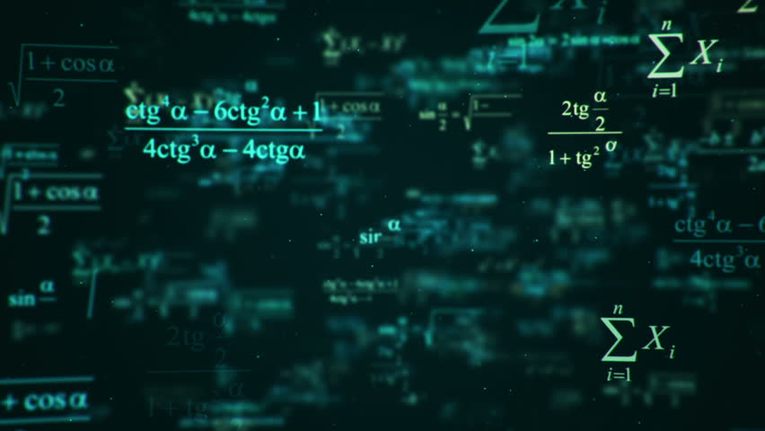 Animation of typing mathematics and physics formulas in abstract digital space. Animation of seamless loop.   Shutterstock HD Video #18115264