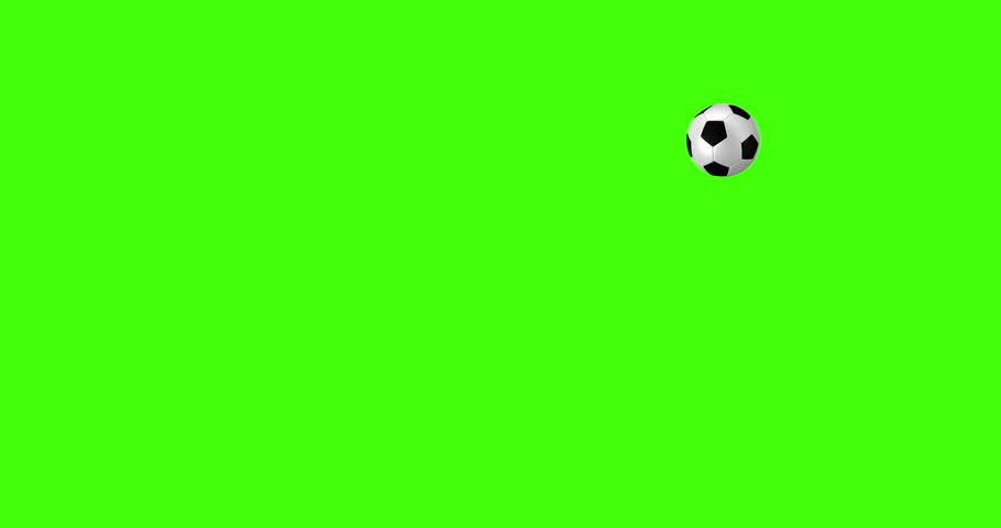 Chroma key green screen of a football being headed back and forth between two players in a game of football headers. | Shutterstock HD Video #18130474