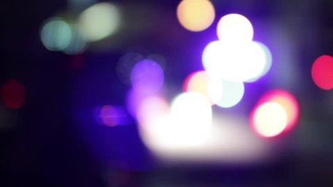 Police car lights - Bokeh / blurred