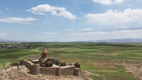 Timelapse of the Khor Virap monastery in Armenia