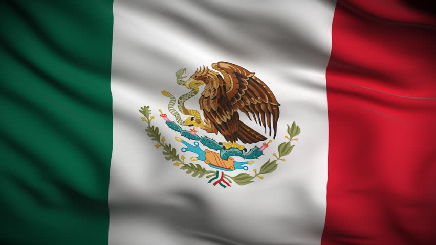 Mexican Flag Stock Footage Video