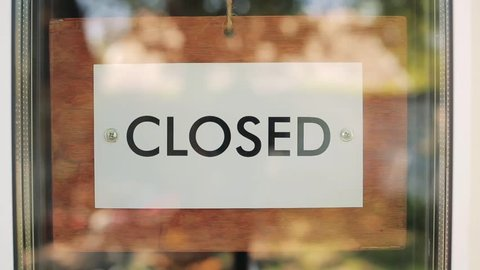 wooden sign open closed