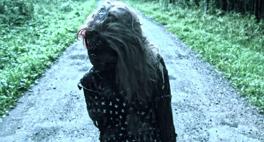 Girl zombie walks in the woods. Apocalypse, | Shutterstock HD Video #18229564