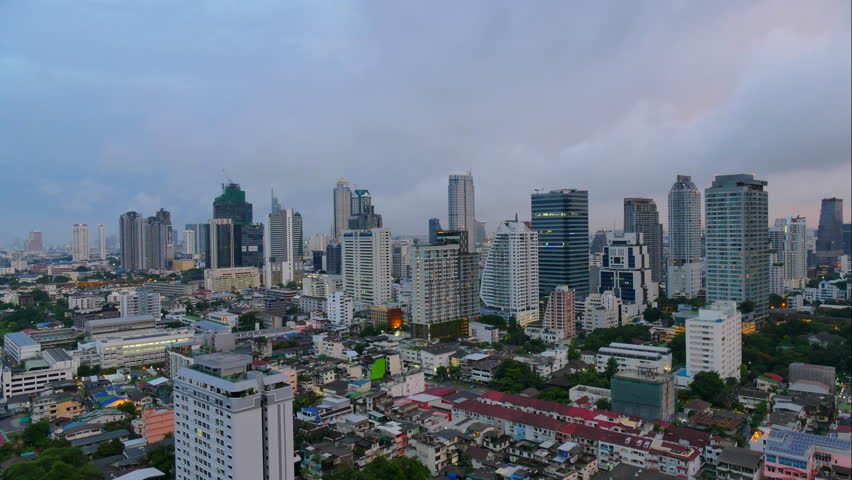 4K Time lapse Bangkok city in Thailand   Shutterstock HD Video #18257164
