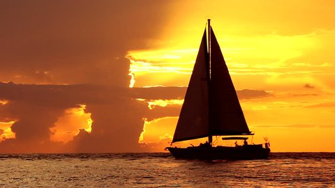 seascape footage from Sarasota , Florida during sunset