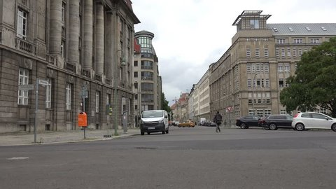 Berlin street typical street showing the architecture circa 20th July 2016
