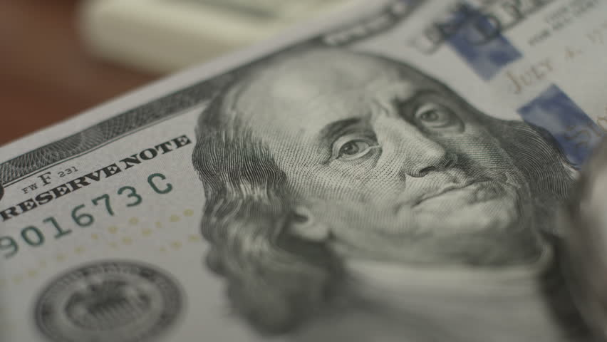100 dollar note, money, time. Financial crisis, growth, economy   Shutterstock HD Video #18362224