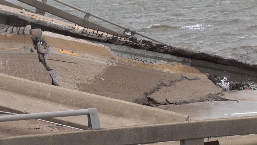 Hurricane Katrina Bridge damage