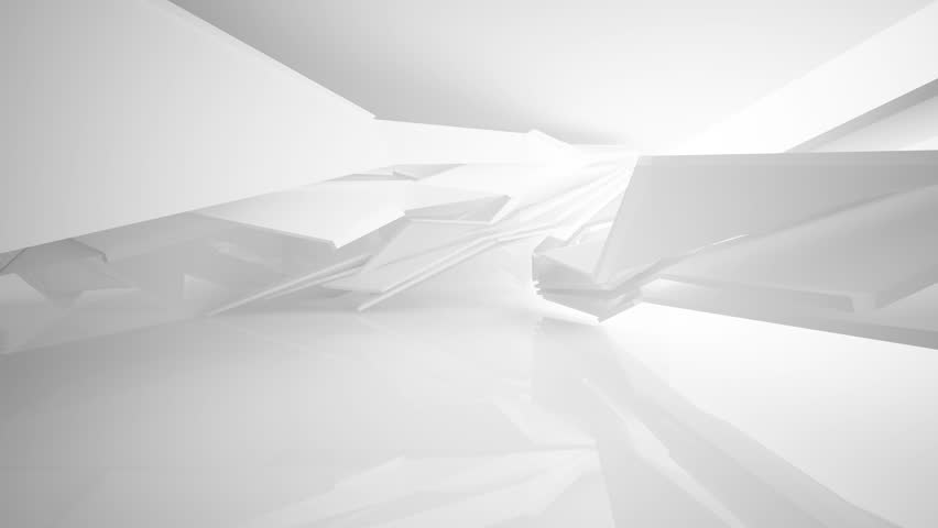 4k00:12Abstract White Interior. 3D Animation. And Rendering. Part 1