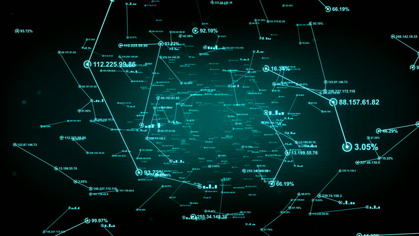 Data and computer network connections. An abstract background of internet connections. Green version. Seamless loop. Available in multiple color options. 4K | Shutterstock HD Video #18504953