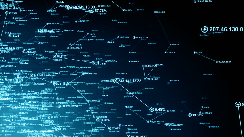 Computer network and data communication. An abstract background of internet connections. Blue version. Seamless loop. Available in multiple color options. 4K | Shutterstock HD Video #18542342