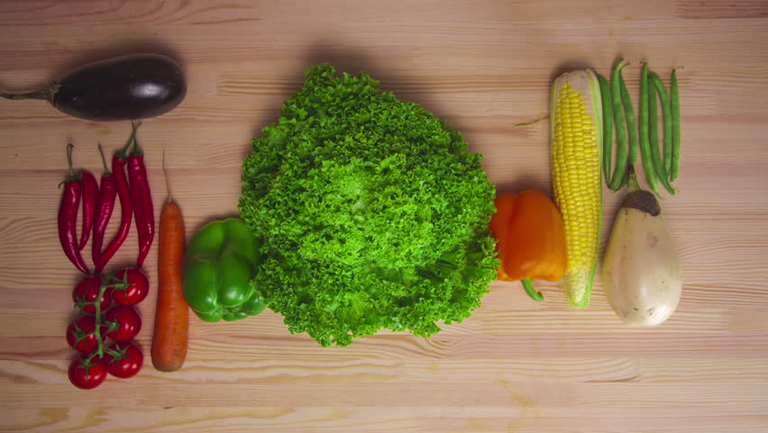 kitchen table background. moving vegetables on kitchen table, harvest background - stop motion animation stock footage video 18546554 | shutterstock table