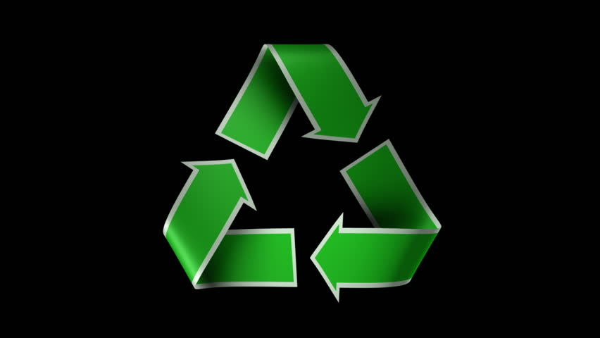 Loopable and Keyable Recycle Symbol.