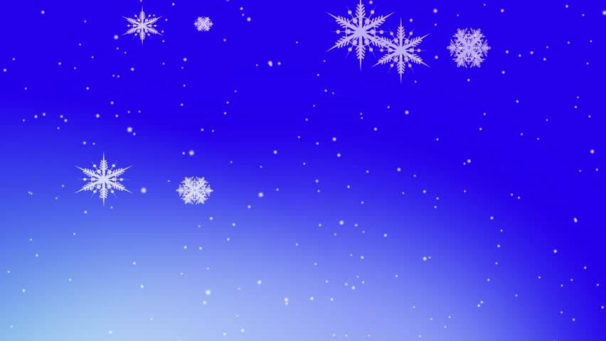 animation of falling snowflakes on a light blue background