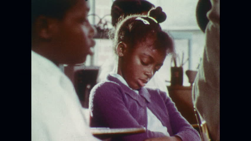 UNITED STATES 1970s: Close ups of children in classrooms. | Shutterstock HD Video #18637874