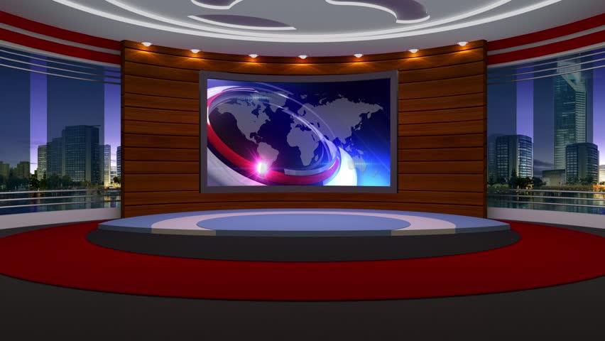 News TV Studio Set - Virtual Green Screen Background Loop   Shutterstock HD Video #18667214