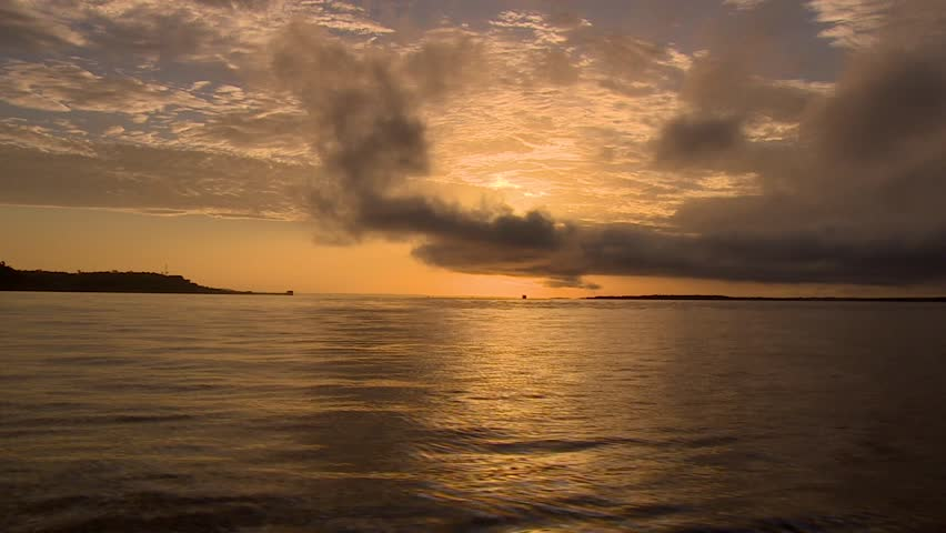 Amazon River with clouds, Manaus, Brazil 2015