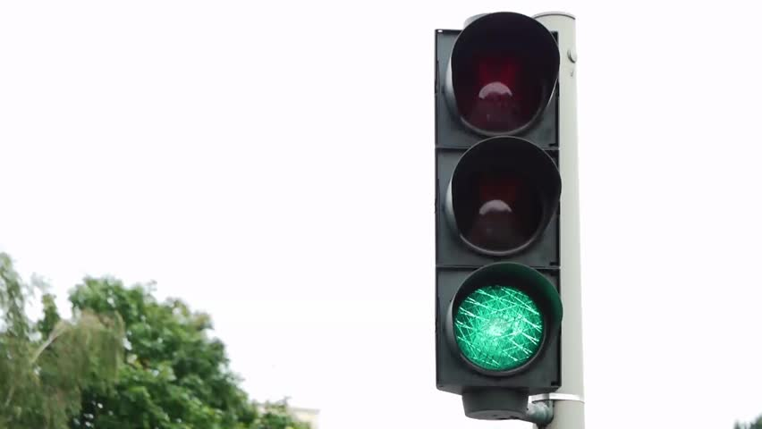 time-lapse of a german traffic light