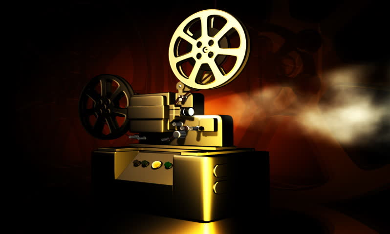 footage of a vintage projector