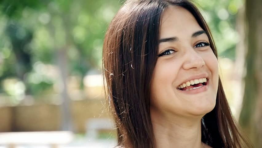 Portrait of beautiful women in the park, slow motion 2 | Shutterstock HD Video #18726251