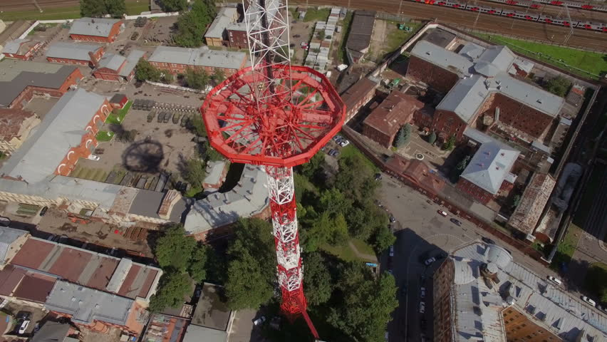 Aerial view of a Large transmission tower | Shutterstock HD Video #18755834