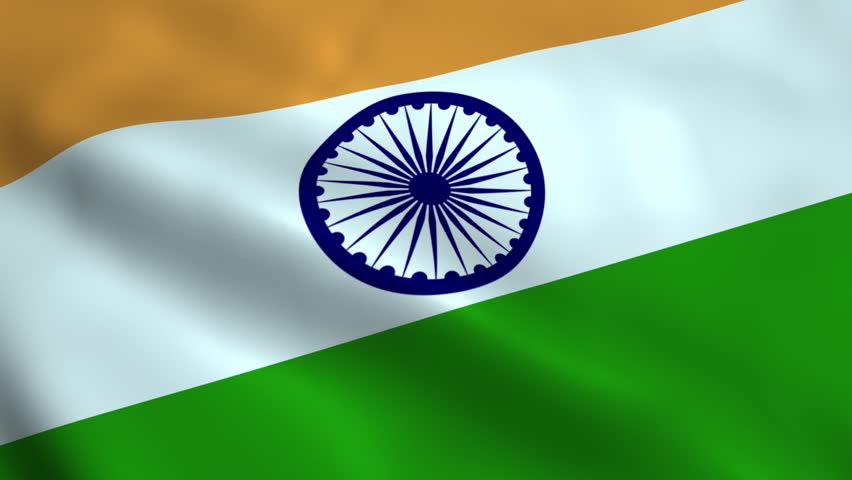 Indian Animated Flag Waving: Indian Flag Waving In The Wind. Part Of A Series. 4K