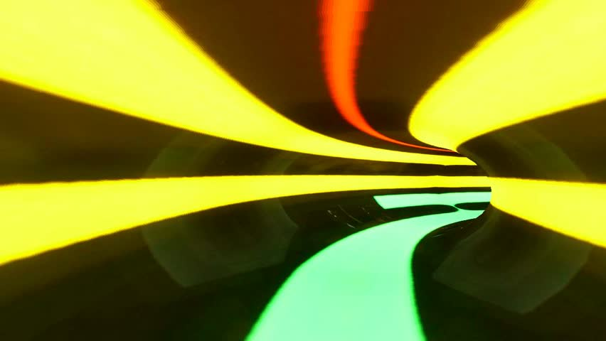High Definition 3D Animation - Sci-Fi Color Tunnel Well Warp Right - Club & Music Video Visual - 1280 * 720 pixels wide