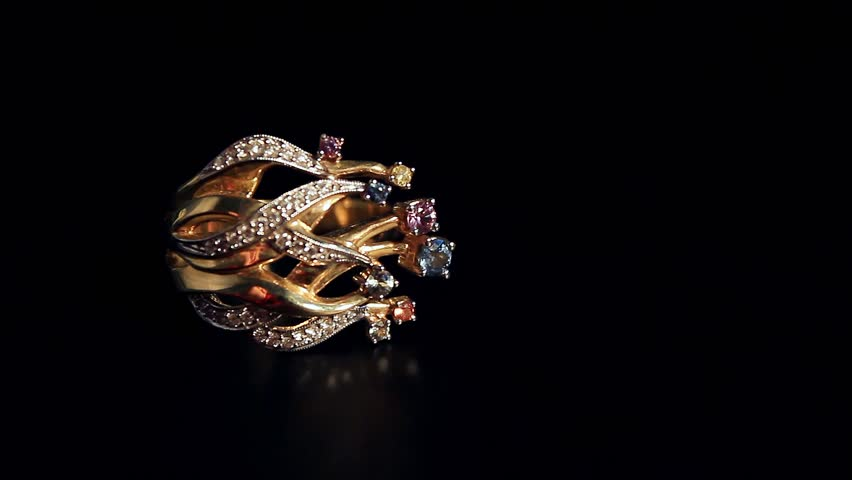 A Gold Ring Amazing Stock Footage Video