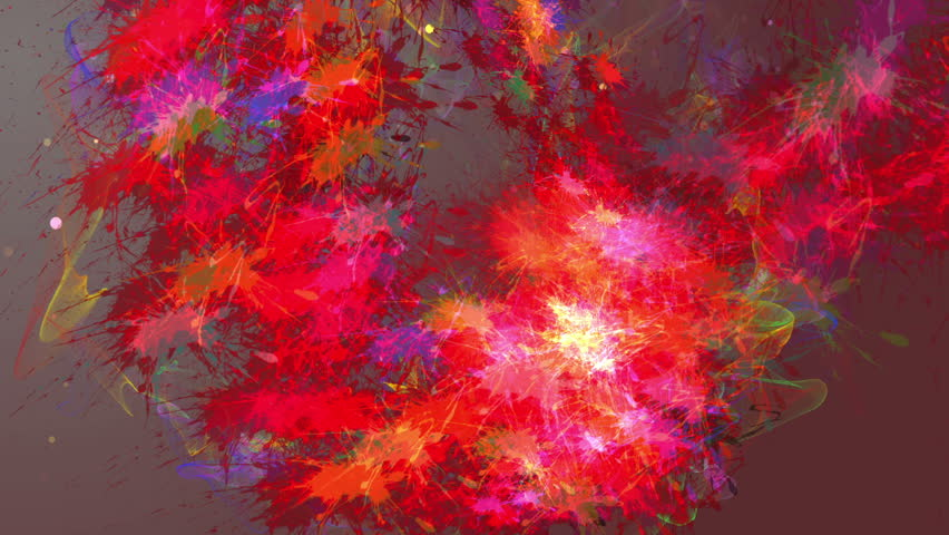Colored particles fly after being exploded | Shutterstock HD Video #18934547