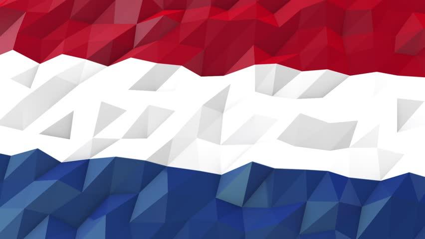 Flag Of Bonaire Sint Eustatius Stock Footage Video 100 Royalty