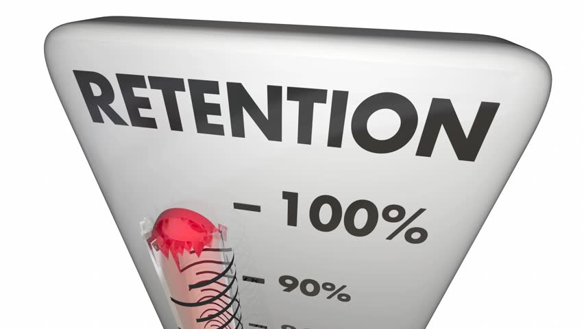 Retention Hold Onto Keep Customers Employees Thermometer 3d Animation