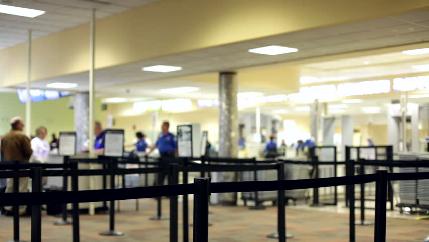Line at Airport Security check
