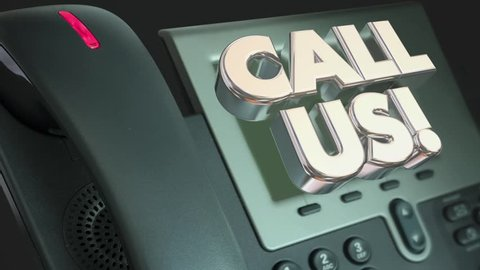 Call Us Telephone CTA Order Now Words Animation