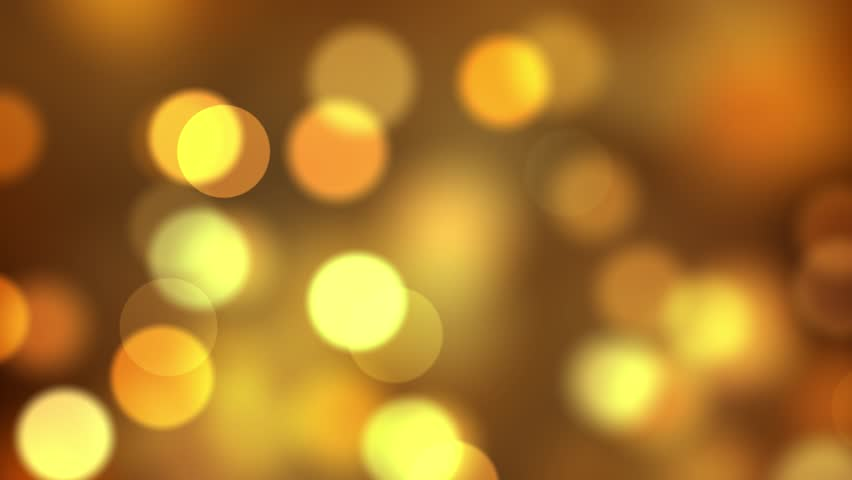 Animated HD motion background video loop - blurred yellow circles