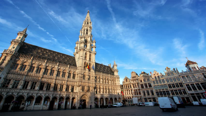Timelapse of the Grand Place Brussels, Belgium