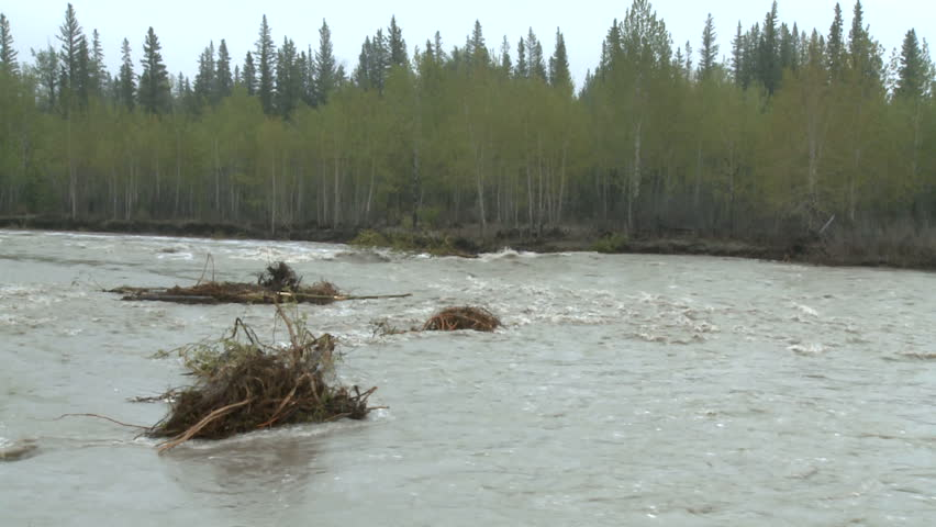 River at high flood water
