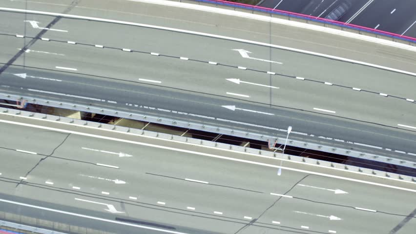 Flight Above Highway Interchange, timelapse | Shutterstock HD Video #19164124