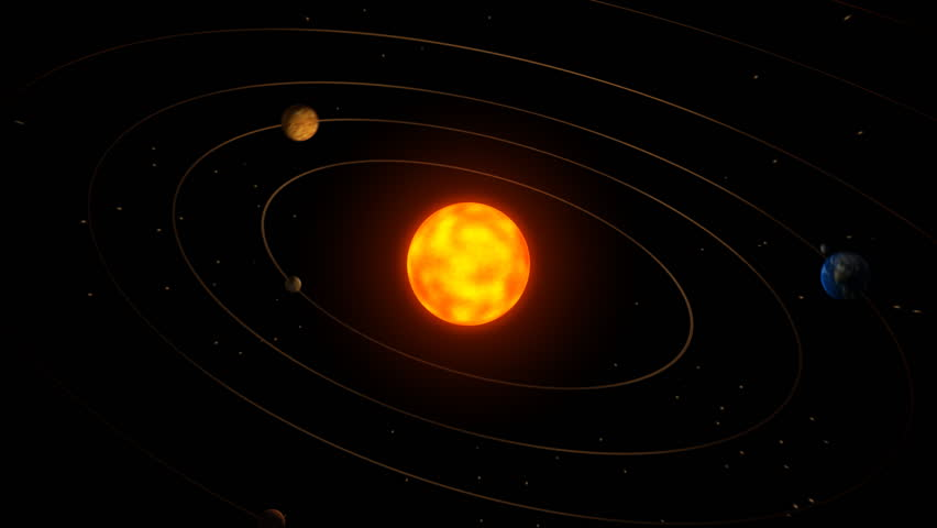 Solar System Animation Stock Footage Video 4228630