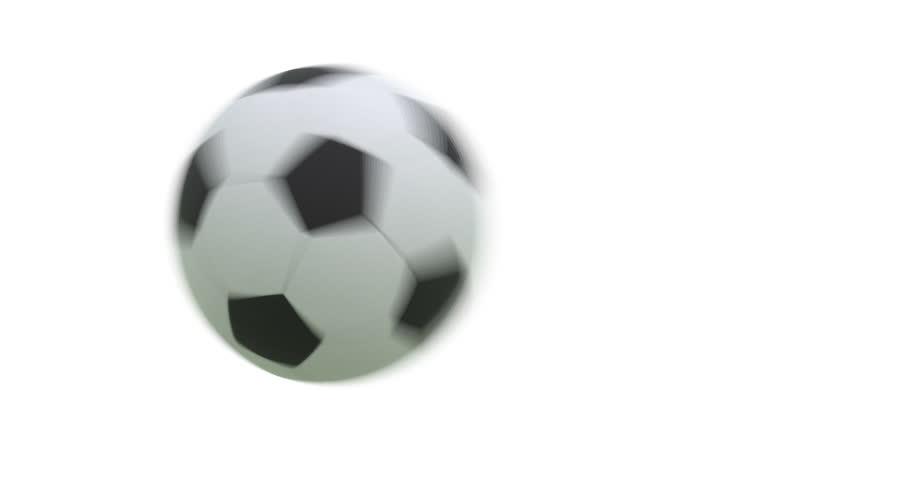 Flying soccer ball with alpha 3D render. Full HD | Shutterstock HD Video #19227904