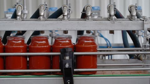 Automatic Line for Processing of Vegetables.Manufacturer Of Tomato Paste.Bottling Tomato Paste in Glass jars.